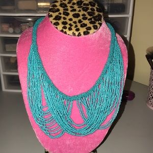 Jewelry - Teal Beaded Statement Necklace